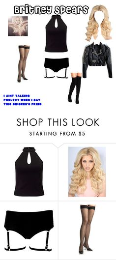 """""""Halloween: Britney Spears"""" by danny-wolf ❤ liked on Polyvore featuring Britney Spears and Miss Selfridge"""