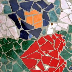 Turn broken tiles into a mosaic for a table top.
