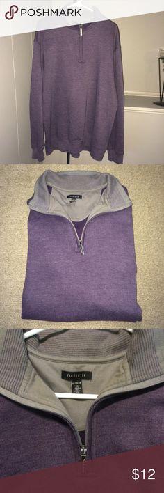 Mens Van Heusen half zip pullover Mens Stylish like new Blue/Purple Van Heusen pull over with half zip front Van Heusen Shirts Sweatshirts & Hoodies