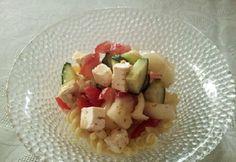 Görög tésztasaláta Fruit Salad, Feta, Potato Salad, Oatmeal, Potatoes, Breakfast, Ethnic Recipes, Breakfast Cafe, Potato