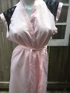 Victoria's Secret Pale Pink Black Lace Satin Sleeveless Robe Kimono Wrap S for sale online Pink Black, Pale Pink, Victoria Secret Lingerie, Pink Satin, Victoria's Secret Pink, Kimono, Clothes For Women, Lace, Ebay