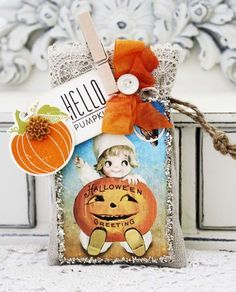 Hello Pumpkin Gift Tag by Melissa Phillips