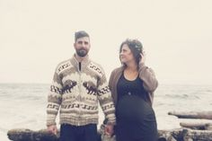 Stormy maternity photos in Victoria BC | AG Photography | 100 Layer Cakelet