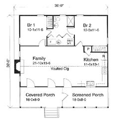 Small Cabin Floor Plans | ... cabin kits weekend cabin kit cabin plans small cabin floor plan 15946. Love this! Perfect for me and my son, if I can just add a half bath somewhere it would be exactly right
