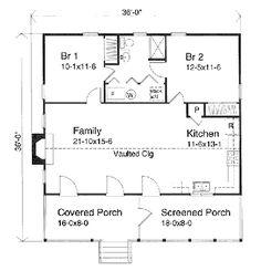 Granny Cottage Plans Small 2 Bedroom Cottage Plan Granny Flat Granny Flat
