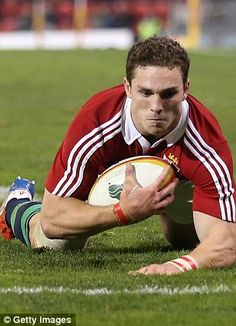 George North scoring against Combined XV
