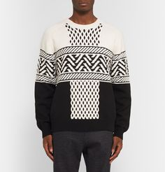 Alexander Wang - Fair Isle Cable-Knit Sweater|MR PORTER