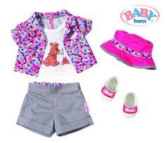 Vestido para mu/ñecas, 3 a/ño Accesorios para mu/ñecas s ,, Baby Born, Chica, 43 cm Zapf Baby Born Dresses 2 Assorted Vestido para mu/ñecas