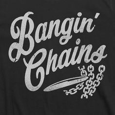 BANGIN' CHAINS Disc Golf T-Shirt Clothing Apparel