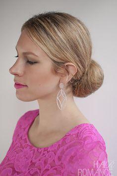 Hair Romance - 30 Buns in 30 Days - Day 6 - low sock bun hairstyle