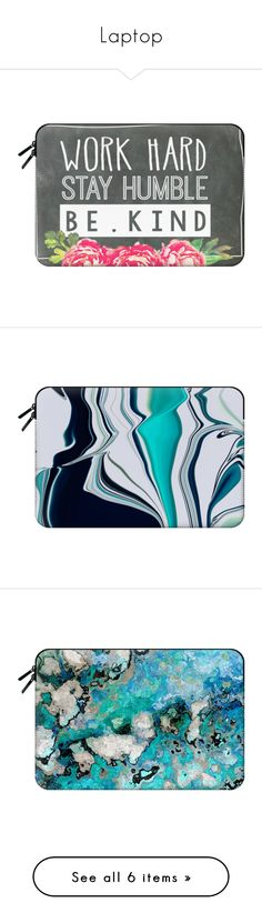 """""""Laptop"""" by katherinemccann ❤ liked on Polyvore featuring accessories, tech accessories, macbook sleeve, bags, macbook pro laptop case, laptop sleeve cases and macbook laptop case"""