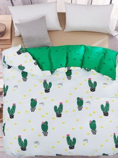 Set de funda de edredón con estampado de cactus