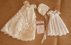 Vintage Dollhouse Miniature  Christening Gown