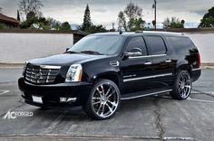 photo 2 Cadillac Escalade ESV custom wheels AC 312 ET , tire size x ET Cadillac Escalade, Escalade Esv, Cadillac Ct6, Best Luxury Cars, Luxury Suv, Super Sport Cars, Super Cars, Big Trucks, Chevy Trucks
