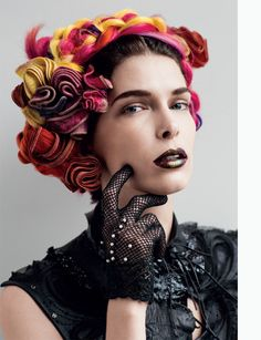like her head piece! - Kristina Salinovic evokes multiple personas for Tim Barber's (Weber Represents) expressive studio images featured in the spring issue of Muse Magazine