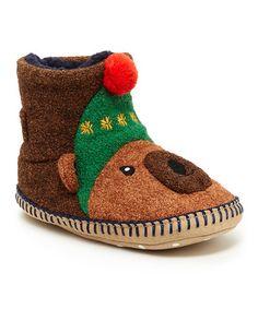 Love this Brown Cozy Bear Karlsson Slipper on #zulily! #zulilyfinds