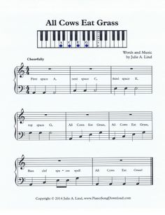 Learn the bass clef spaces with this fun piano piece.