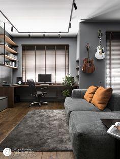 Home Studio Setup, Home Office Setup, Studio Room, Apartment Interior, Apartment Design, Bedroom Setup, Bedroom Decor, Home Room Design, House Design