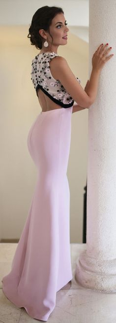 Silva Navarro Pink Embellished Fall Winter Collection Gown by 1sillaparamibolso