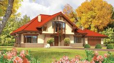 Holiday home for my family house in the mountains, home to the largest house in the forest in nature, orchard, vegetable garden and flowers, invite friends to dinner. Casas Country, Architectural House Plans, Model House Plan, Traditional House Plans, Forest House, Large Homes, Home Fashion, House Painting, Beautiful Homes