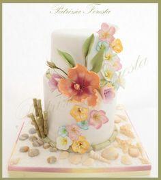Floral #Wedding Cake | Watercolors | La Foresta di Zucchero