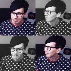 s a d :( d i m p l e, please never take your glasses off<< Phil, you look great with your glasses and/or your contacts.