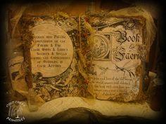 Primitive Spellbook- Book of Faerie- Halloween Prop