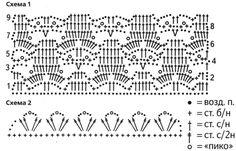 ажурная схема узора для блузы
