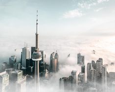 Toronto Ontario Canada, Burj Khalifa, Cn Tower, New York Skyline, Building, Buildings, Construction