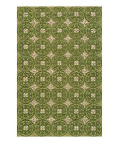 Look what I found on #zulily! Grass Flower Circle Indoor/Outdoor Rug #zulilyfinds