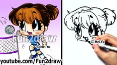 How to Draw Chibi Volleyball Girl!
