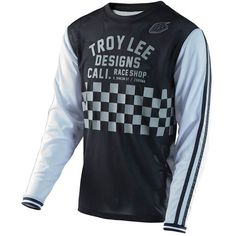 Troy Lee Designs Check Black/White Super Retro Jersey