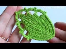 Листья крючком. Мастер класс. Leaf / Leaves crochet DIY