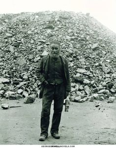 North and South by George Orwell (Pic: Wigan miner in front of a slag heap, c. 1890) http://georgeorwellnovels.com/essays/north-and-south/