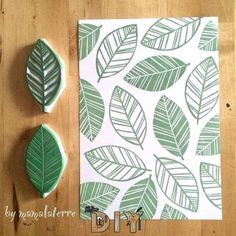 10 creative ideas to make DIY stamps - inspiring, . - 10 creative ideas to make DIY stamps – Inspiring, achieve - Diy Stamps, Handmade Stamps, Handmade Cards, Stamp Printing, Printing On Fabric, Stencil Printing, Diy Printing, Textile Printing, Hand Printed Fabric