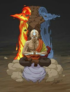 Airbender: All Grown Up - Avatar Aang (Avatar State)