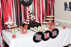 There are so many details from this rockstar party that I love!  Just change the colors:)