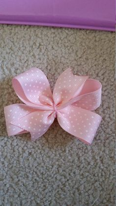 Check out this item in my Etsy shop https://www.etsy.com/listing/264300076/pinwheel-hand-made-pink-polka-dot-bow