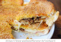 Torta di pancarre con scamorza prosciutto e funghi, ricetta veloce, piatto unico, idea per cena, antipasto, piatto per bambini, come sostituire la pizza, torta salata