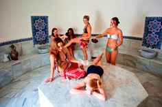 Peninsula Hot Springs has some many experiences, the Turkish Hammam is a must. Turkish Bath House, Spring One, Hot Springs, Bikinis, Swimwear, Bathing, Bathrooms, Houses, Google Search
