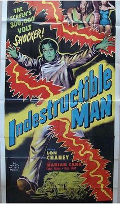 The Indestructible Man (1956) 3 Sheet 41x81.