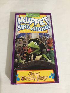Muppet Sing Alongs Muppet Treasure Island VHS Tape Movie - 1996 Jim Henson Video 6794 Children's Musical Sing Dance & Play by NostalgiaRocks