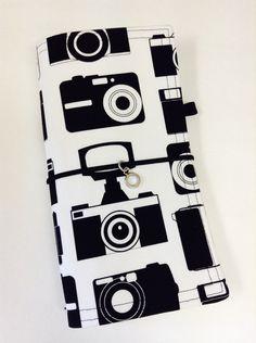 "Sunshine Dori in ""Camera Ready"" - A Fabric Traveler's Notebook / Fabric Faux Dori by CraftyGirlsX2 on Etsy"