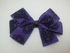 Purple and Black Goth Hair Bow by GhastlyGoverness on Etsy
