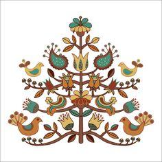 scandinavian folk art kurbits I love this! Folklore, Scandinavian Folk Art, Arte Popular, Art Graphique, Cool Ideas, Applique Quilts, Embroidery Patterns, Mandala, Cross Stitch