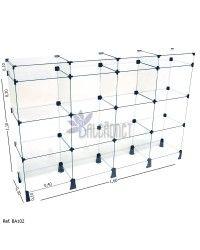 Balcão de Atendimento Modulado em Vidro com Porta Bijuteria - 1,60 x 1,10 x 0,30