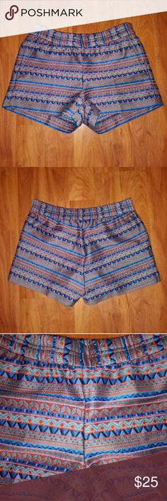 "J.Crew Aztec Embroidered Shorts Length:11"" J. Crew Shorts"