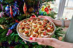 Sundried Tomato & Mozzarella Crostini | 10-minute canapé recipe | Foodieeshe.com