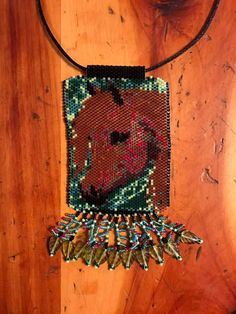 Shadow Horse  peyote beaded necklace