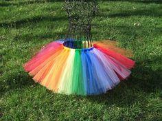 rainbow tutu- for clown costume I can DIY